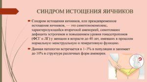 Синдром истощения яичников