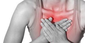 Зуд внутри грудной клетки посередине