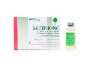 Стафилококковый бактериофаг и клизма