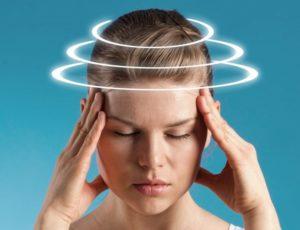 Ощущение наполненности головы жидкостю, шум в голове