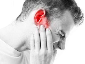 Боль в ухе при наклоне вперёд