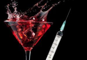 Укол и алкоголь