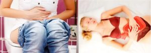 Боли внизу живота при беременности, после спринцевания