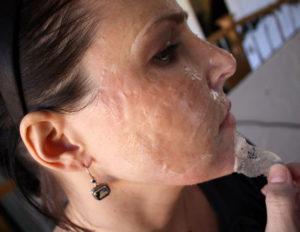 Сперма попала на кожу