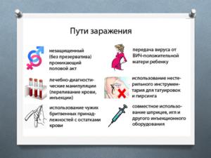 Бытовой способ заразиться ВИЧ