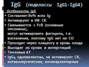 Расшифровка анализа IgG4