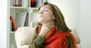 Очень болит горло после простуды